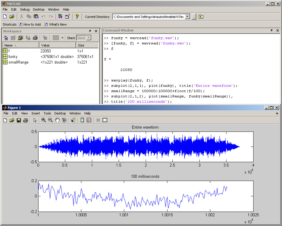 how to read wav file in matlab